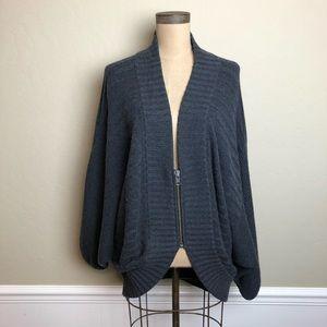 LaRok loose fit zip front sweater